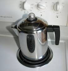 making coffee with a stove top percolator