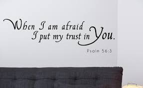 Psalm 56 3 Scripture Bible Verse Wall Decal Nuovocreations