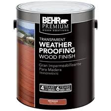 Behr Premium 1 Gal 502 Redwood Transparent Weatherproofing Wood Finish 50201 The Home Depot Outdoor Wood Furniture Staining Wood Staining Deck