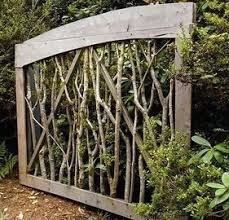 Collection Garden Gate Sisters Twig Gate Modern Design Modern Design In 2020 Garden Gate Design Wooden Garden Gate Diy Garden Fence