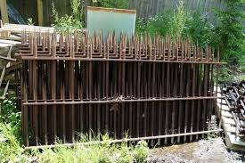 18 Sections Antique Wrought Iron Fence 134 Ft W 19 Support Post 1871314904