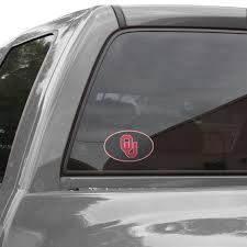 Oklahoma Sooners Carbon 8 X 8 Oval Repositionable Vinyl Decal