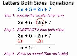 variable on both sides equations