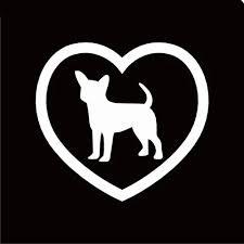 Vova I Love My Chihuahua Heart Dog Car Sticker Window Car Body Decal Removable Waterproof Reflective