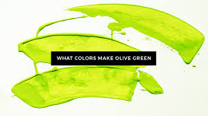 what colors make olive green what two