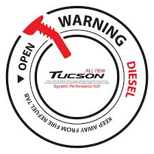 Car Stickers Fuel Gas Tank Cap Decal Cover For Tucson Diesel Black Automecca