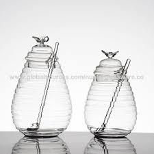china innovative glass jar spoon set