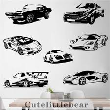 7 Sports C Vehicles Car Wall Stickers Wall Decals For Boy Bedroom Home Decor Living Room Decoration Vinyl Car Wall Decor Sticker Wall Stickers Aliexpress