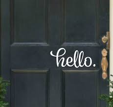 Hello Door Decal Hello Vinyl Decal Front Door Decal Hello Etsy Hello Door Decal Door Decals Front Door Decal