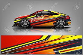 Car Decal Wrap Design Vector Graphic Abstract Stripe Racing Royalty Free Cliparts Vectors And Stock Illustration Image 121081108