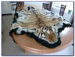 real white tiger skin rug rugs home
