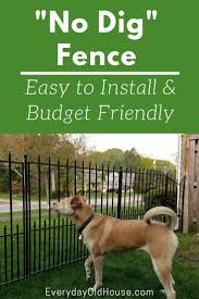 How To Install A No Dig Fence Lowes Grand Empire Xl Everyday Old House Diy Dog Fence Dog Fence Temporary Fence For Dogs
