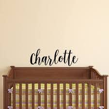 Amazon Com Vinyl Wall Art Decal Girls Name Charlotte Text Name 12 X 39 Girls Bedroom Vinyl Wall Decals Cute Wall Art Decals For Baby Girl Nursery Room Decor