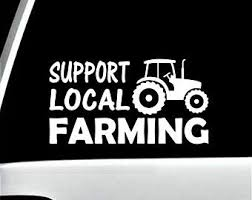 Hemp Farmer Tractor Decal Sticker For Car Window Agriculture Bg 422