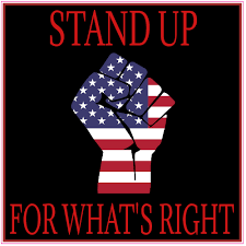 Stand Up For Whats Right American Flag Fist Sticker U S Custom Stickers