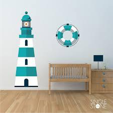 Nursery Lighthouse Wall Decal Nautical Nursery Vinyl Wall Sticker Custom Home Decor Nursery Vinyl Wall Stickers Room Nautical Nursery Decor