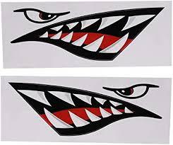 Amazon Com Vgeby 2 Pcs Shark Teeth Mouth Sticker Diy Car Funny Decals Shark Sticker For Car Canoe Kayak Surfboard Boat Truck Sports Outdoors