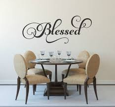 Blessed Decal Family Wall Decal Picture Wall Decal Blessed Etsy