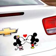 Mickey Mouse Minnie Mouse Kiss Fall In Love Car Window Vinyl Decal Sti Dorisue