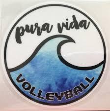 Pura Vida Volleyball Wave Sticker Pura Vida Volleyball Surfing Wallpaper