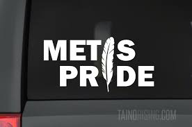 Metis Pride Feather Native American Decal 6 X 3 By Taino Rising Taino Rising
