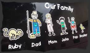 Family Decals Family Stickers Design Your Unique Stick Family Sticker Made Easy And Fun