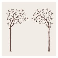 Narrow Family Tree Wall Decal Transitional Wall Decals By Simple Shapes