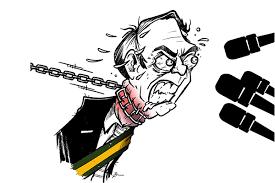 Tribuna do Norte - Comportamento de Bolsonaro perante a mídia é tema da charge de Brum