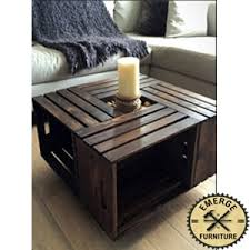 brown space saving coffee table