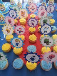 Pororo Birthday Cupcakes With Toppers Pororo Fiestas Tematicas