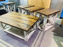 farmhouse living room set end tables