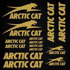 Piktograffer For Arctic Cat Sticker Set Replica Snowmobile Snowboard Sled Helmet Decal Racing