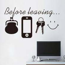 Before Leaving Wall Sticker Buy Before Leaving Wall Sticker With Free Shipping On Aliexpress Version