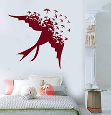 Vinyl Wall Decal Songbird Flock Of Birds Swallow Stickers Unique Gift Wallstickers4you