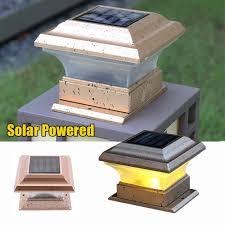 Pool Squares Solar Powered Outdoor Fence Post Yard Lamp Led Light Landscape Lighting Garden Decor Lazada Ph