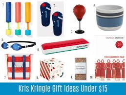 kris kringle gift ideas under 15 25