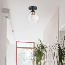matte black semi flush mount ceiling