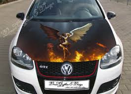 Angel And Demon Car Hood Wrap Decal Vinyl Sticker Full Color Graphic Fit Any Car Ebay