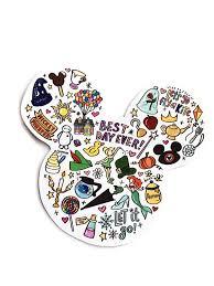 Disney Mickey Minnie Ears Doodle Vinyl Sticker Etsy In 2020 Cool Stickers Waterproof Stickers Case Stickers