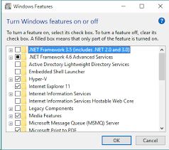 install dotnet 2 0 or 3 5 on windows 10
