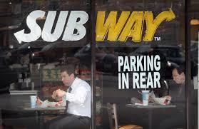 calories in a subway sandwich