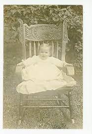 "Cute Little Girl in Rocking Chair ""Ruth Hilda Holmes"" RPPC Antique Photo  1910s | eBay"