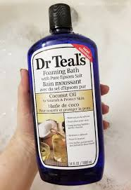 dr teal s pure epsom salt with coconut oil