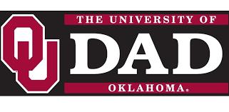University Of Oklahoma Dad W Ou Logo Vinyl Decal