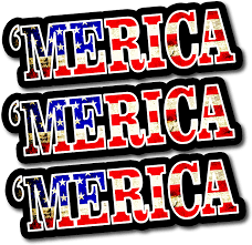 Amazon Com Merica Decals For Trucks Quality Merica Flag Decal Merica Bumper Sticker For Cars Or Truck Large Sticker 1010 Arts Crafts Sewing