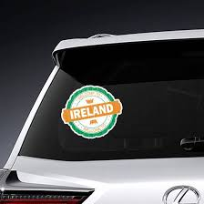 Welcome To Ireland Flag Stamp Sticker