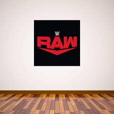 Amazon Com Beautiful Game Wwe Wall Sticker Raw Logo Wall Decal Vinyl Kids Mural Art Wrestling 90cm Height X 90cm Width Home Kitchen