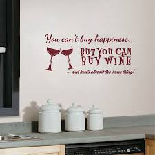 You Cant Buy Happiness But You Can Buy Wine Vinyl Wall Art Quotes Sticker Home Kitchen Bar Wall Decals Decorative Kitchen Toys For Smart Cooking