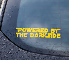 2x Powered By The Darkside Sticker Decal Car Window Funny Star Wars Jedi S145 Star Wars Humor Star Wars Jedi Power