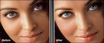 give makeup hairstyle makeover to